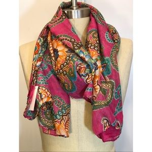 Pink Floral Extra Large Scarf Wrap Sarong NWT